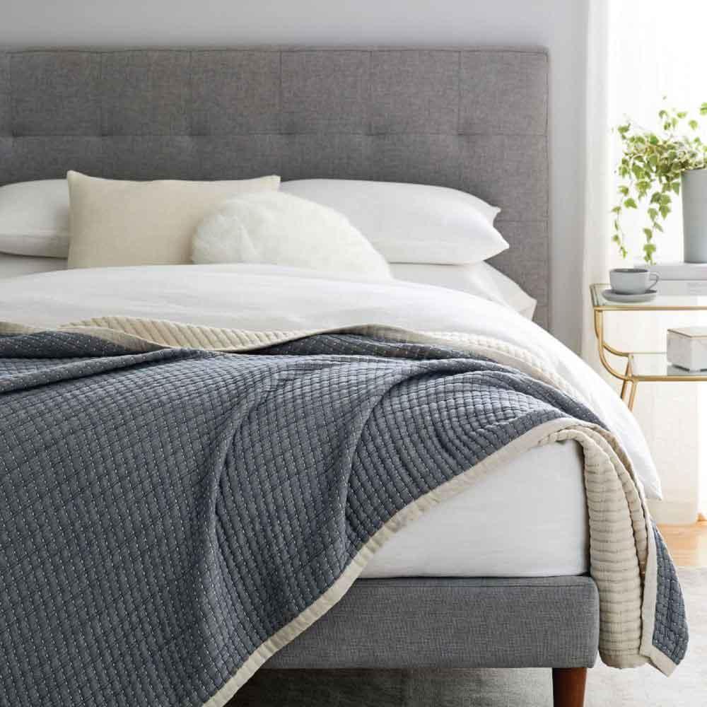 Best Organic Cotton Blanket: West Elm Double Cloth