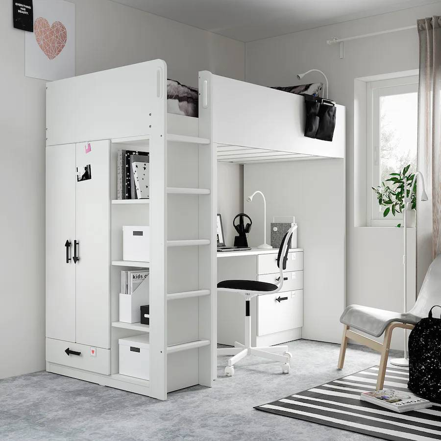 Smastad Loft Bed with desk